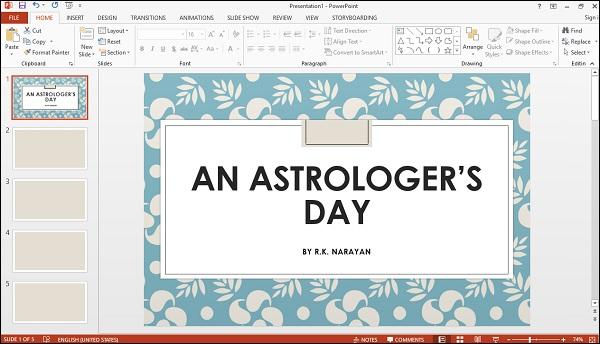 Diapositiva del día del astrólogo